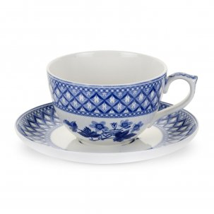 Spode Blue Room Tekopp Jumbo 56cl med fat Geranium